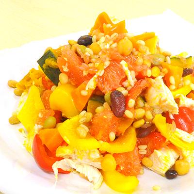 蒸しミックス豆のパワーサラダ